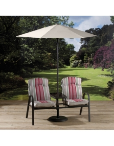 Rimini Garden Furniture Companion Set With Parasol Container
