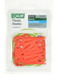 ALM Plastic Blades - Red Pack of 20
