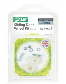 ALM Greenhouse Sliding Door Wheel Kit 22mm