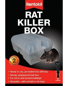 Rentokil Rat Killer Box 2 Blocks & Key