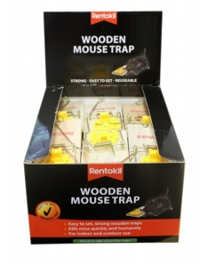 Rentokil Wooden Mouse Trap Single Loose Box