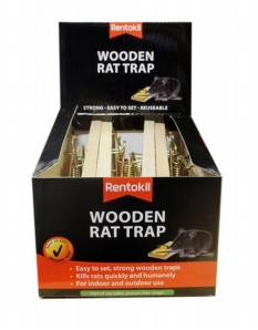Rentokil Wooden Rat Trap Single Loose Box