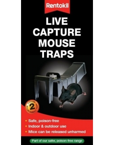 Rentokil Live Capture Mouse Traps Boxed Twin Pack