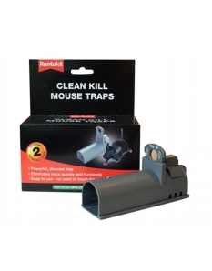 Rentokil Clean Kill Mouse Trap Twin Pack
