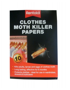 Rentokil Clothes Moth Killer Papers Pack 10
