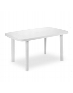 SupaGarden Plastic Oval Table White