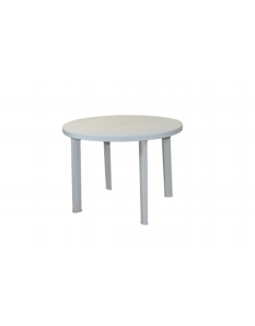 SupaGarden White Plastic Round Table 90cm