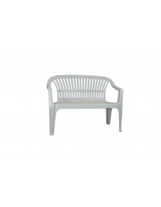 SupaGarden Plastic Bench White