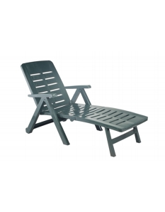 SupaGarden Plastic Lounger Green