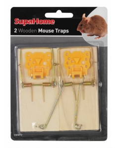 SupaHome Wooden Mouse Traps Pack 2
