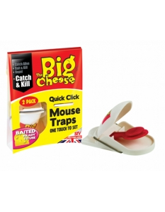 The Big Cheese Quick Click Mouse Trap Twin Pack