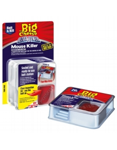 The Big Cheese Ultra Power Block Bait Mouse Killer Station Twin Pack