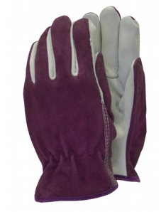Town & Country Premium - Leather Gloves Ladies Size - M Purple
