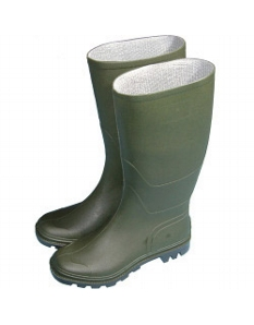 Town & Country Essentials Full Length Wellington Boots - Green UK Size 8 - Euro Size 42