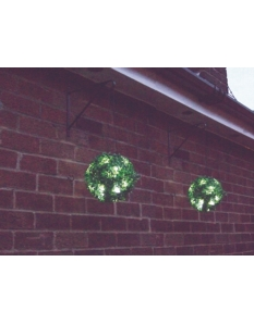 Streetwize Gardenwize Solar Hanging Pair Bay Balls With LEDs 23cm