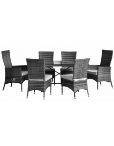 Pagoda Toulouse Dining Set 6 Seat