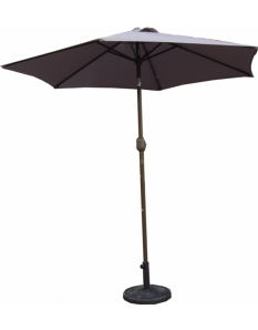 Pagoda Parasol With Crank 2.5m Brown
