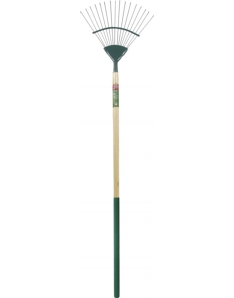 Ambassador Carbon Steel Lawn Rake Length: 166cm. Foam Handle Length: 61cm
