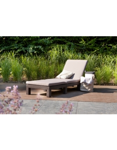 Allibert Daytona Sunlounger with Cushion Cappuccino