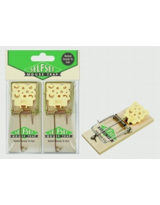 Self Set Selfset Wooden Mouse Trap Twinpack