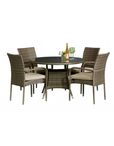 Pagoda Toulouse Dining Set 4 Seat