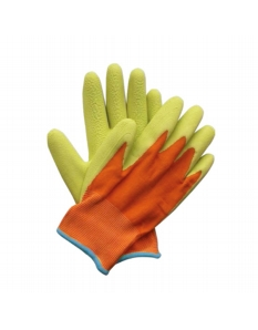 Briers Kids Junior Digger Gloves Orange & Green