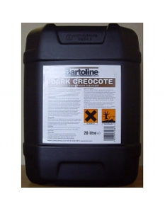 Bartoline Creocote Oil Based Wood Treatment 20L Dark Brown