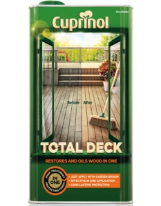 Cuprinol Total Deck Restorer & Oil 5L Clear
