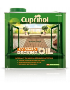 Cuprinol UV Guard Decking Oil 2.5L Natural Cedar