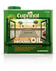 Cuprinol UV Guard Decking Oil 2.5L Natural Oak