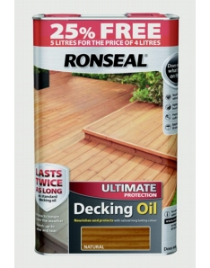 Ronseal Ultimate Protect Decking Oil 4L + 25% Free Natural