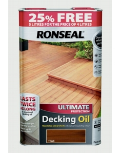 Ronseal Ultimate Protect Decking Oil 4L + 25% Free Teak