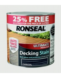 Ronseal Ultimate Protection Decking Stain  2L + 25% Free Charcoal
