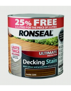 Ronseal Ultimate Protection Decking Stain  2L + 25% Free Dark Oak