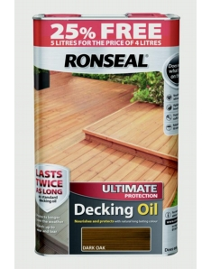 Ronseal Ultimate Protect Decking Oil 4L + 25% Free Dark Oak
