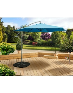 Pagoda 3m Over Hanging Parasol Blue