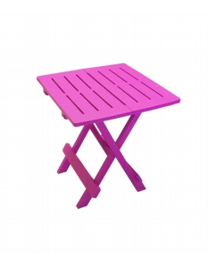 SupaGarden Plastic Folding Camping Table Pink