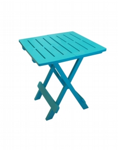 SupaGarden Plastic Folding Camping Table Turquoise