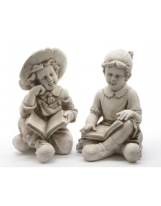 Decoris Magn Child Sitting With A Book 2 Assorted Designs