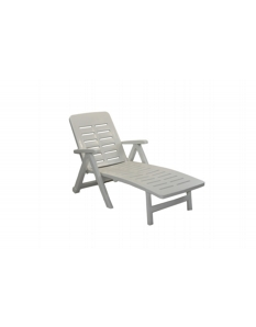 SupaGarden Plastic Lounger White