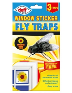 Doff Window Stickers Clipstrip Pack 3
