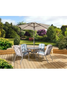 Pagoda Roma Dining Set With Parasol 4 Seat