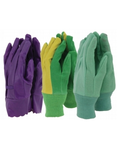 Town & Country Ladies Gloves 3 Pair Pack