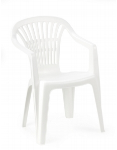 SupaGarden Resin Chair White