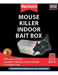 Rentokil Mouse Killer Indoor Bait Box Twin