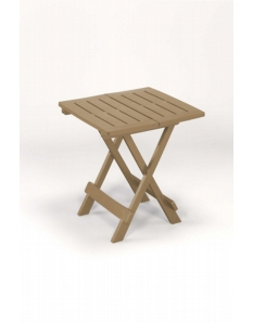 SupaGarden Plastic Folding Camping Table Taupe