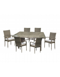 Pagoda Toulouse Rectangular 6 Seat Dining Set