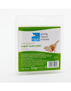 Rspb Super Suet Cake With Mealworms 320g