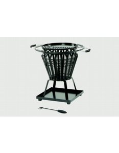 Lifestyle Signa Steel Basket With Fire Pit BBQ Black steel basket frame work