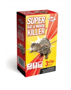 Doff Super Rat & Mouse Killer Refill 3 x 25g